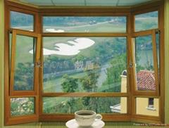 歐式鋁木門窗
