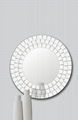 LOWEST PRICE - Lovella 65cm Diameter Mosaic Round Bevelled Glass Wall Mirror
