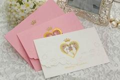 Wedding Invitation Card Stationery Foil Print