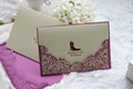Delicate Lacer Cut Wedding Invitation Card Stationery  5