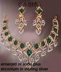sterling si  er necklace set (3 pcs)