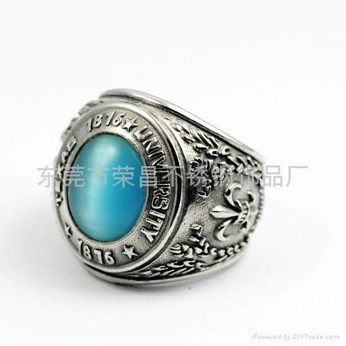 不锈钢316镶石戒指 1