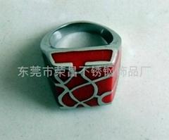 不锈钢滴胶戒指