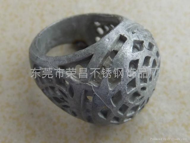 不锈钢滴胶戒指 3