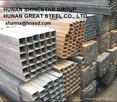 ASTM A500 GR.B SQUARE STEEL PIPE shanna(at)hnssd(dot)com