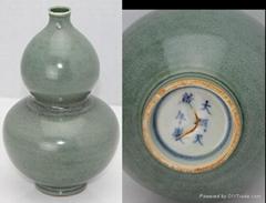 明代青釉葫芦瓶