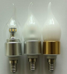 Led Candle Bulb E14 6W High Power led milky cover for chandelier lighting