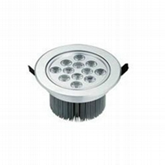 High Power LED down lamp 12*1W 1100 Lumens recessed Ceiling Light