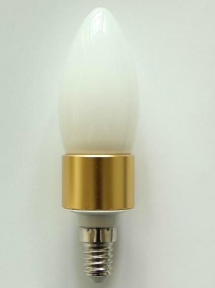 Si  er /Gold E14 6W High brightness Led Candle Light clear cover 2