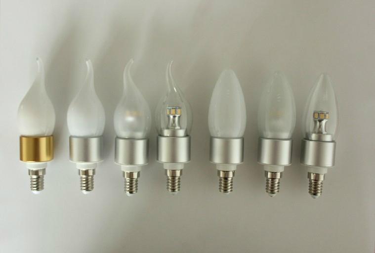 Led Candle Bulb E14 6W High Power led milky cover for chandelier lighting 2