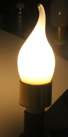 Si  er /Gold E14 6W High brightness Led Candle Light clear cover 5