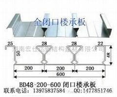 YX48-200-600閉口樓承板