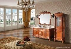 Antique Wooden Bathroom Vanity