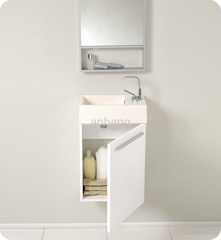 Mdf White Bathroom Vanity B 005 Feiber China