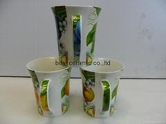 ceramic mug fine bone china OEM logo design
