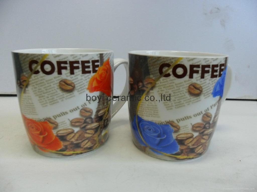 can shape ceramic mug branded printing customized design 2