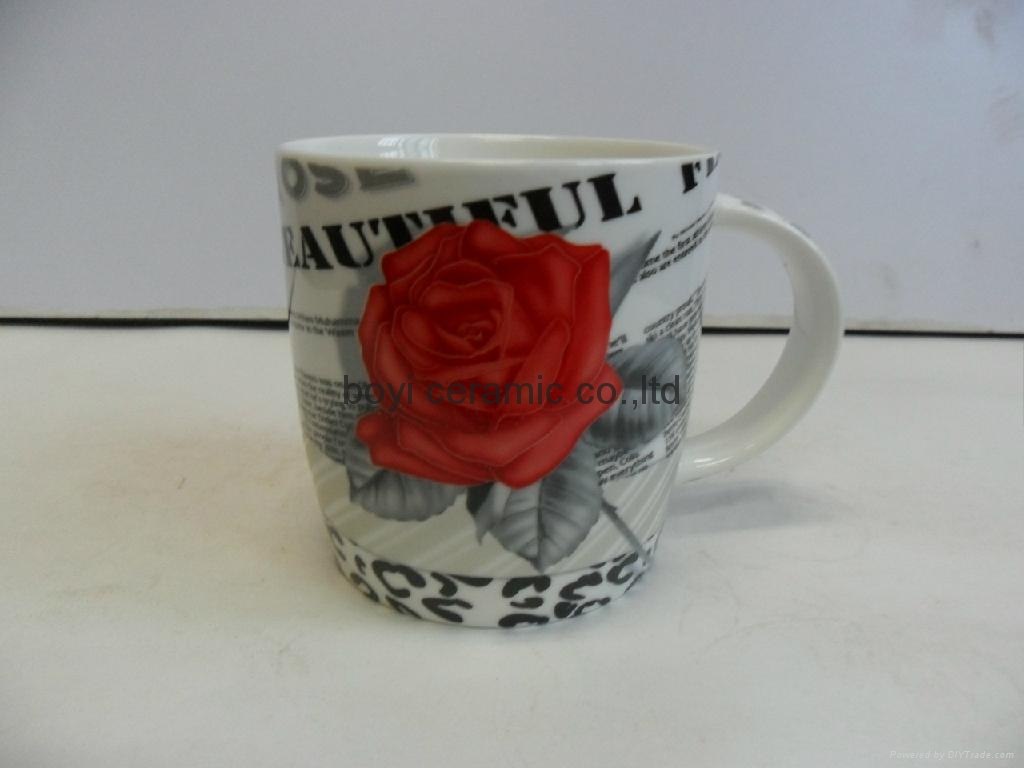 can shape ceramic mug branded printing customized design 4