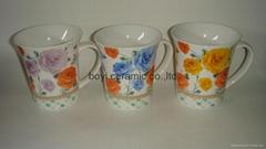 Tapered shape promotion ceramic mug OEM logo printing