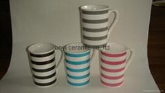 Tall flare Shape classic promotion ceramic mug