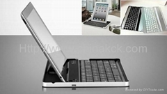 New Aluminum Wireless Bluetooth Keyboard Case Cover for Apple iPad 2/3rd