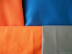 Polyeaster/cotton flame retardant fabric