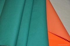 Fire retardant cotton twill for garments