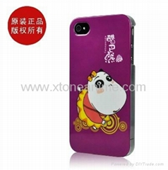 Imported Material Fashionable Cartoon Design Plastic Case For iphone 4G