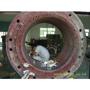 1680KW高压电机定子局部修理线圈 1