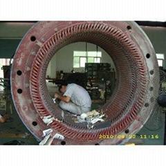 1680KW高压电机定子局部修理线圈