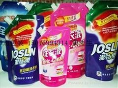 洗衣液自立吸嘴軟包裝袋