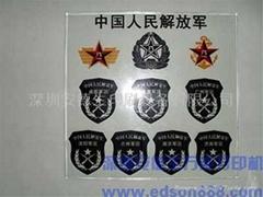 深圳安德生E-001型热弯玻璃手机展示架数码印刷机
