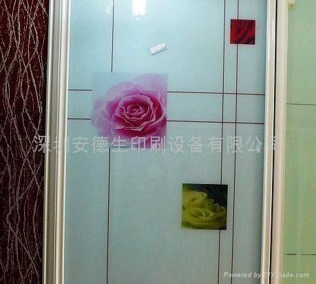 深圳安德生E-001型熱彎玻璃手機展示架數碼印刷機 2