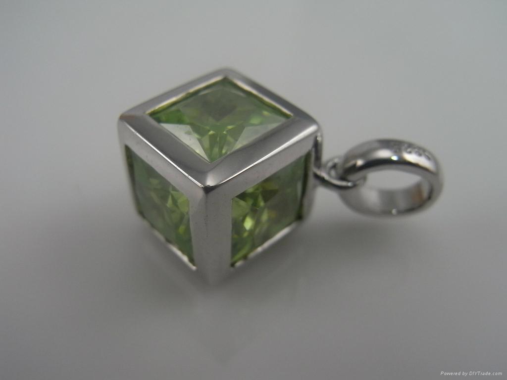 925纯银锆石戒指 1