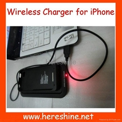 1500mah Wireless Charger Case for iphone 4G/S