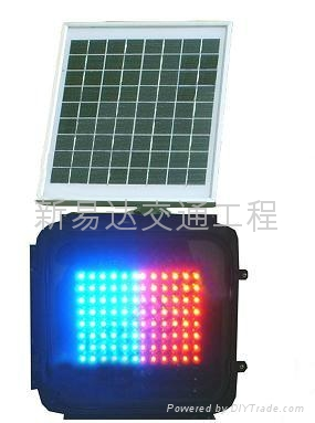 LED太陽能頻閃信號燈 1