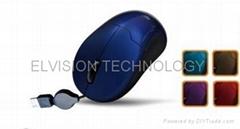 USB 伸缩线鼠标