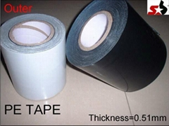 Pipeline wrapping adhesive tape