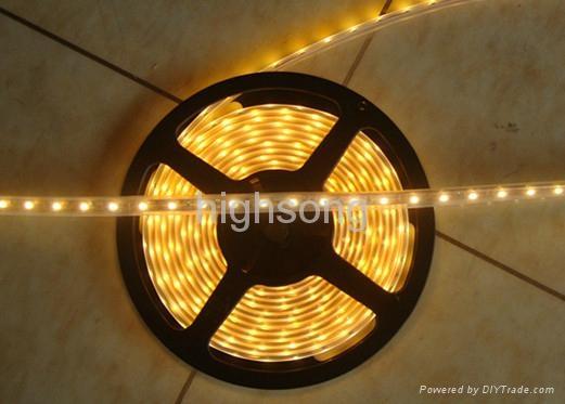 LED全套管灌胶IP68防水黄光灯条 2