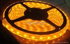 LED全套管灌膠IP68防水黃光燈條