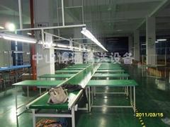 反吊灯架PVC流水线