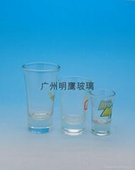 高脚厚底玻璃白酒杯