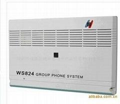 深圳国威集团电话交换机WS824-10型10D模拟数字交换机