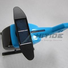 plane model solar toy