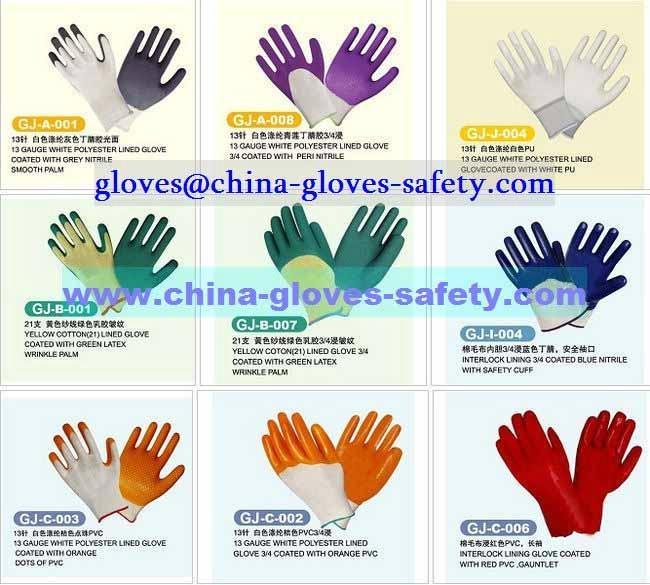 Coated work gloves 1
