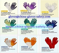 Coated work gloves