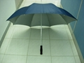 blue golf umbrella
