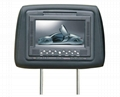 7 inch headrest monitor with games and free games controllers