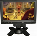 7 inch stand alone car LCD VGA monitor