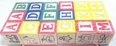 ABC wood blocks for children