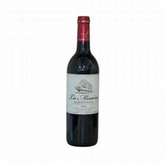 銷售法國原裝進口紅酒龍舟世家